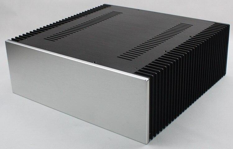 Full aluminum amplifier enclosure WA68 class A chassis / AMP box 430*150*412mm|Speaker Accessories| |  - title=