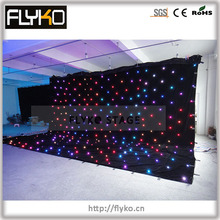 Бесплатная доставка 6×8 м полноцветная низкая цена высокое качество больше Светодиодная лампа Звездный светодиодный занавес