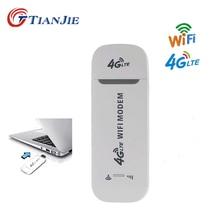 TIANJIE 4G LTE USB МОДЕМ Wifi роутер разблокировка беспроводной сетевой адаптер Модем 3G/4G слот для sim-карты мобильный Wifi маршрутизатор точки доступа