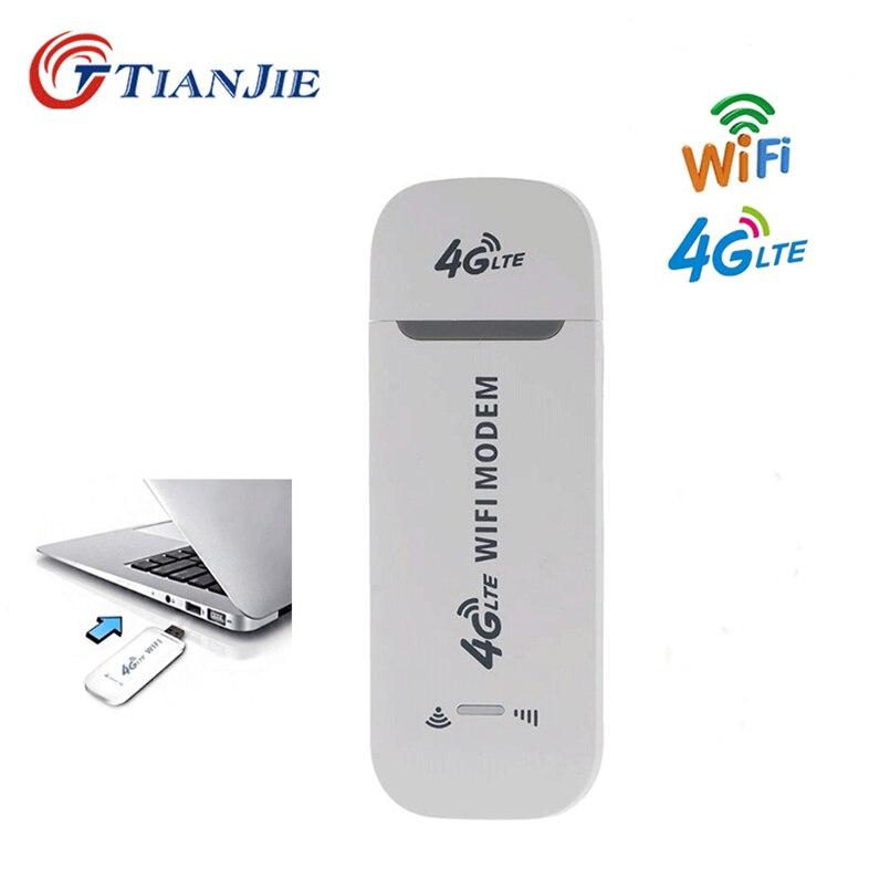 TIANJIE 4G LTE USB Modem Wifi routeur déverrouiller sans fil réseau adaptateur Modem bâton 3G/4G SIM carte slot Mobile Wifi Hotspot routeur-in Routeurs 3G/4G from Ordinateur et bureautique on AliExpress - 11.11_Double 11_Singles' Day 1