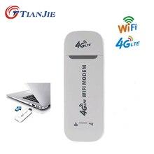 TIANJIE 4G LTE USB модем Wi-Fi разблокировка беспроводной сетевой адаптер Флэшка-модем 3g/4G слот для sim-карты Мобильная точка доступа Wi-Fi