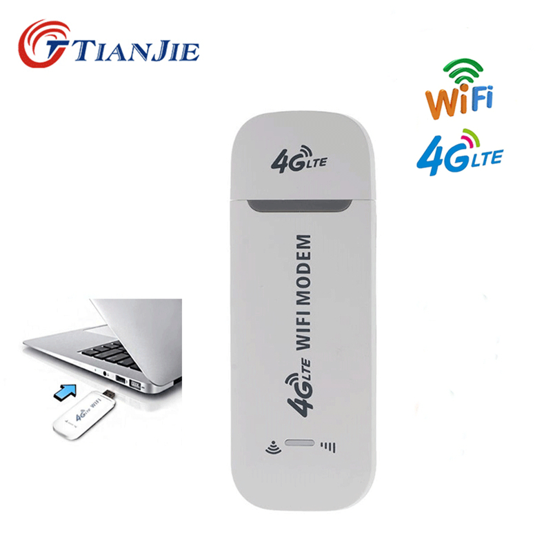 TIANJIE 4G LTE USB Wifi Router 100Mbps Unlock Broadband Wireless Modem Stick 4G 3G Mobile Hotspot Router with SIM Card slotTIANJIE 4G LTE USB Wifi Router 100Mbps Unlock Broadband Wireless Modem Stick 4G 3G Mobile Hotspot Router with SIM Card slot