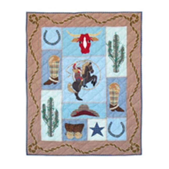 Patch Magic QCCGRL Cowgirl Quilt Crib 36 x 46 in. new 2015 cowgirl