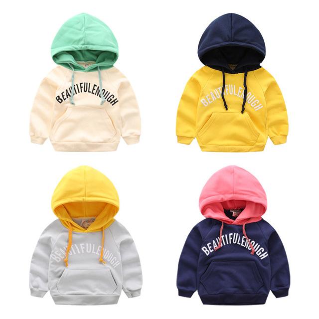 Menino t-shirt Do Bebê Moletom Com Capuz primavera 2017 novas crianças roupas de algodão