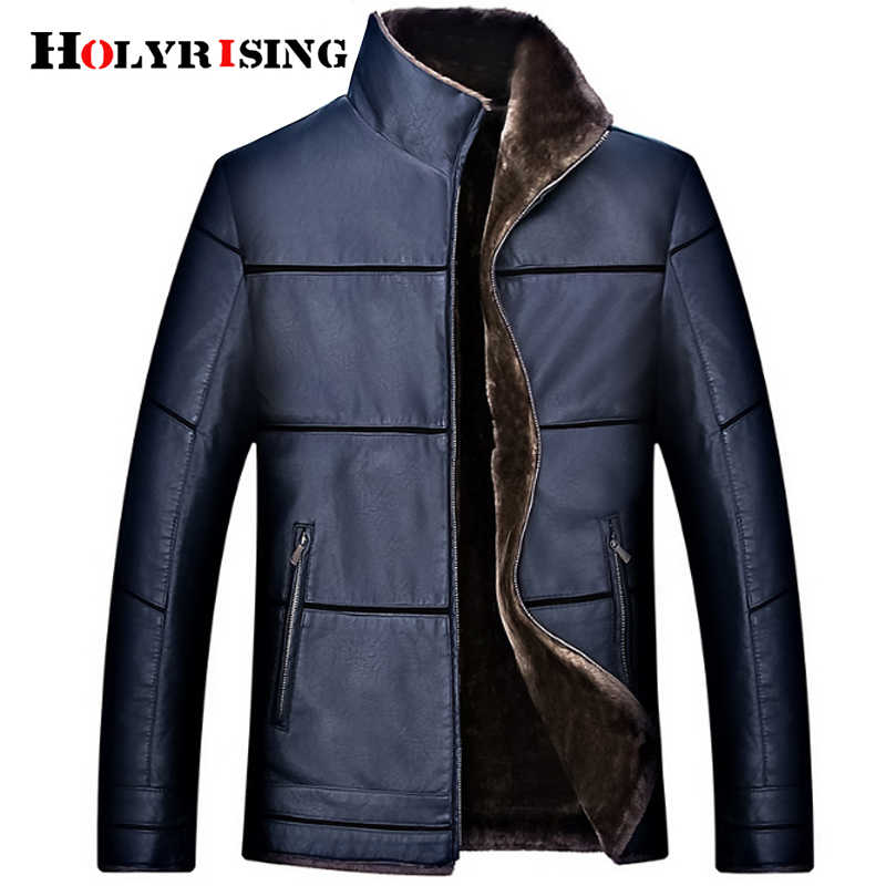 7XL size Thick Men Leather Jackets Winter PU Leather Casual Coats Jaqueta De Couro masculina Warm Pilot Jacket 18514-5