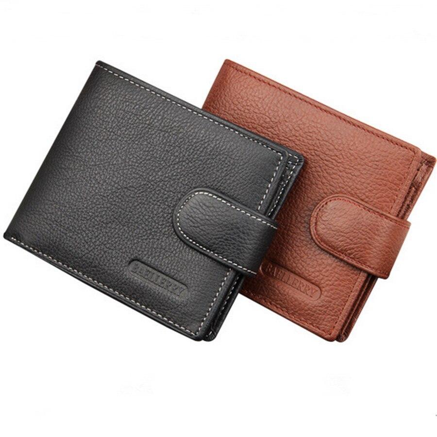 homens do vintage carteira masculina Material Principal : Couro Genuíno
