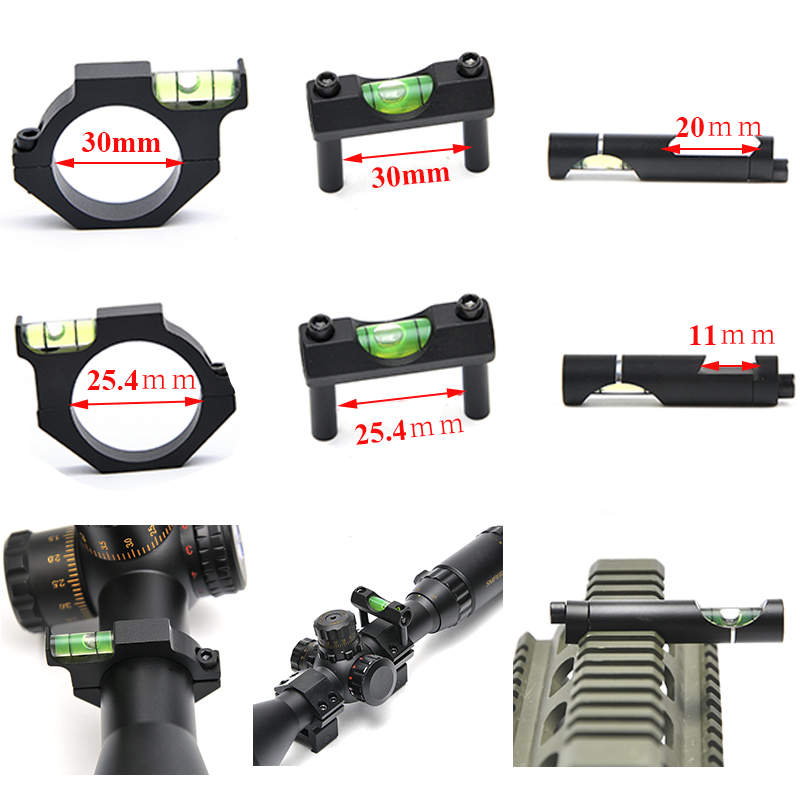 Hunting Spirit Bubble Level Rifle Scope Mount for 20mm Picatinny Weaver Rail 11/20mm Rifle Sight Scope Mount