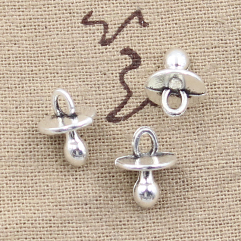10pcs Charms Baby Pacifier Binky Teether 13x10mm Antique Making Pendant Fit,Vintage Tibetan Silver Bronze,DIY Handmade Jewelry