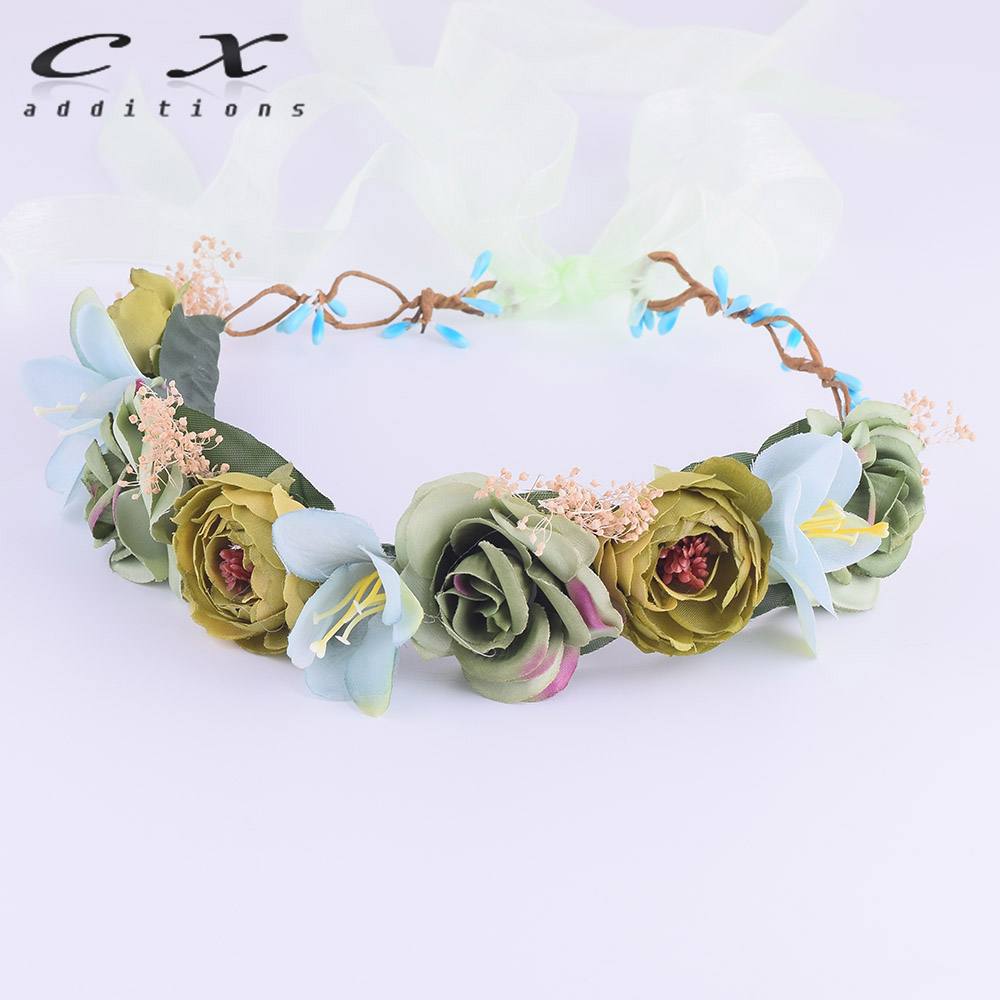 Cxadditions lily camellia rose flower crown headwrap adjustable cxadditions lily camellia rose flower crown headwrap adjustable fleur headband wreath tiaras wedding headpiece garland christmas in hair accessories from izmirmasajfo