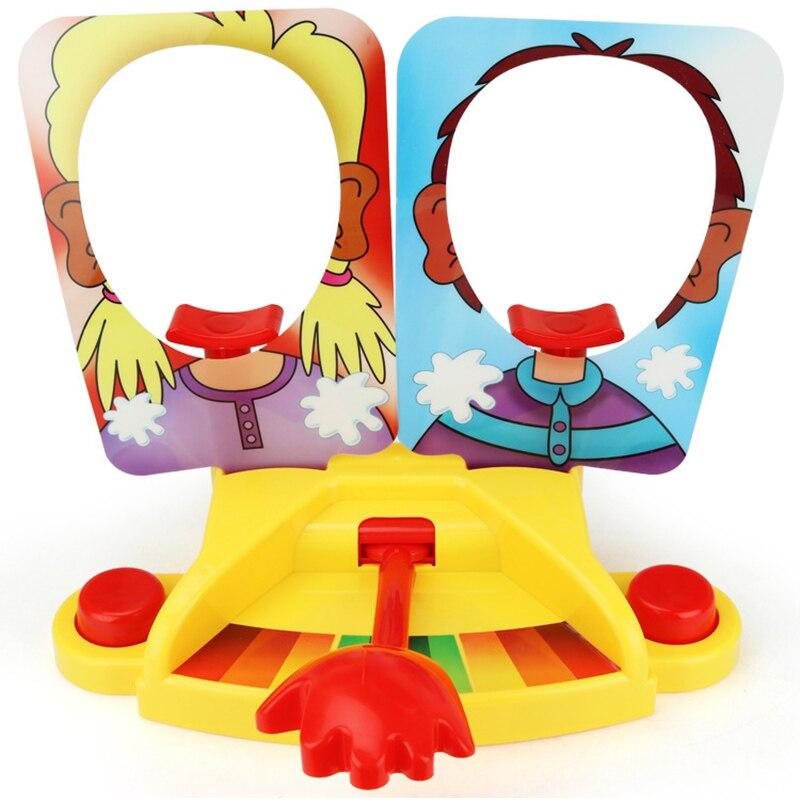Double personne jouet gâteau crème tarte au visage Anti Stress jouet pour enfants partie amusant jeu drôle Gadgets blague blagues pour enfants cadeau
