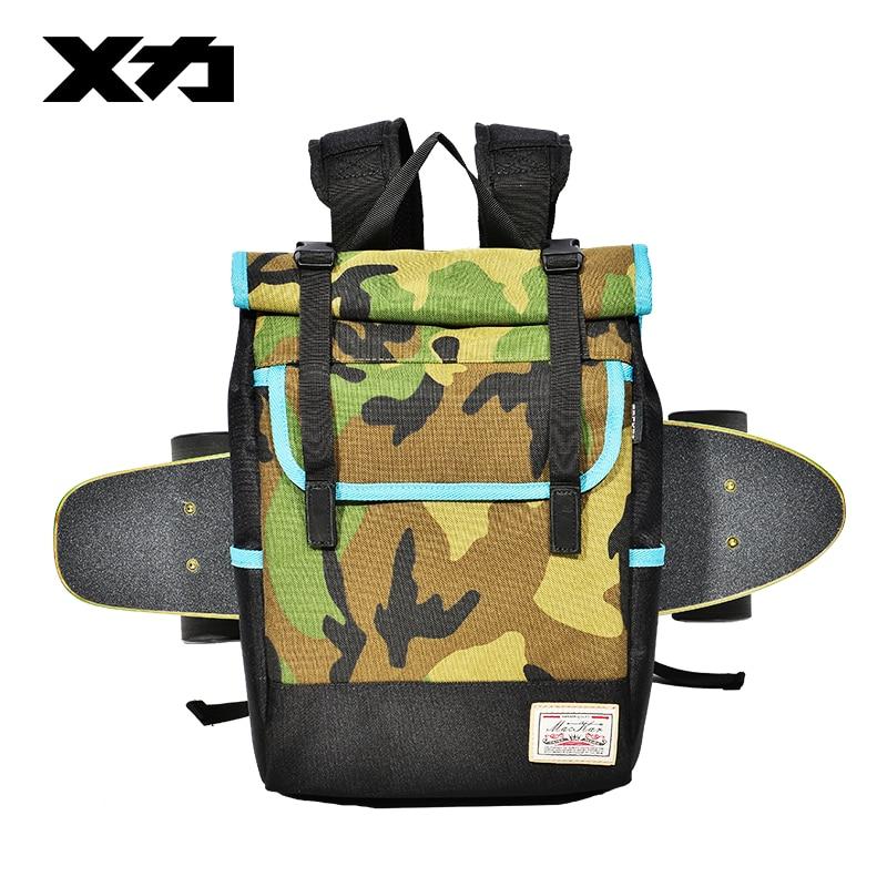 Image 2 - MACKAR Shoulder Skateboard Backpacks 1000D Nylon Small Longboard Bags Men Black/camouflage Street Outdoors Packsacks-in Skate Board from Sports & Entertainment