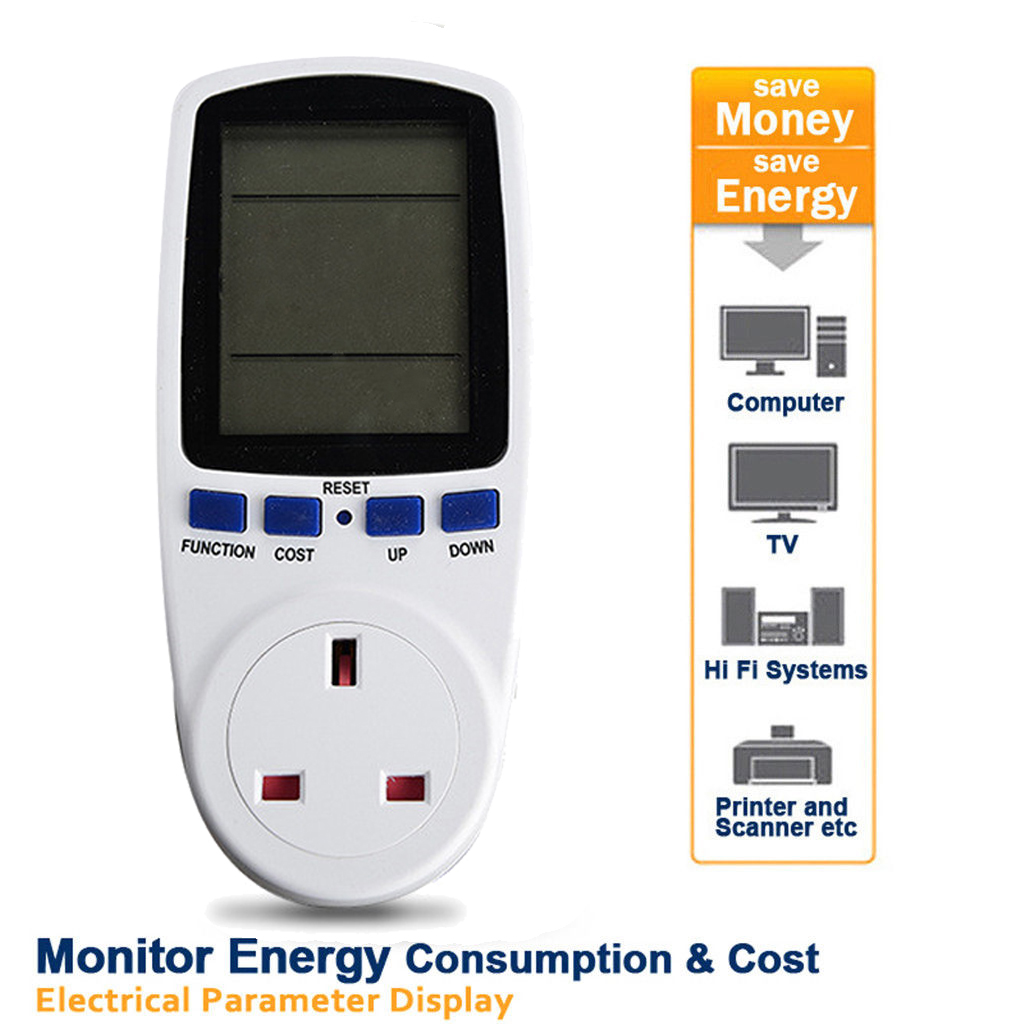 Consumption Meter Electricity Usage Monitor Kwh Calculator With Lcd Display Uk Plug In Socket From Consumer Electronics On