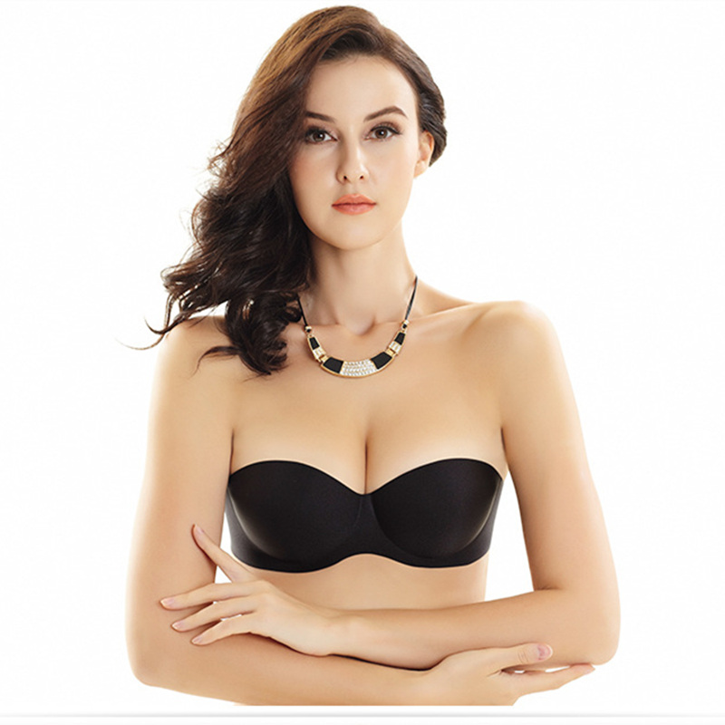Women strapless invisible bra sexy seamless thin nubra for Bra slip for wedding dress