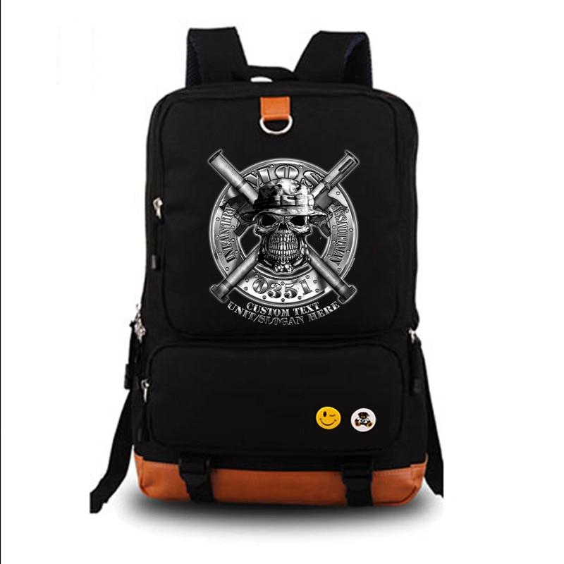 us marines infantry assaultman school bag backpack student