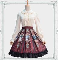 Sweet Royal Vintage Printed Lolita Skirt Girl's Short A Line Chiffon Skirt Three Colors