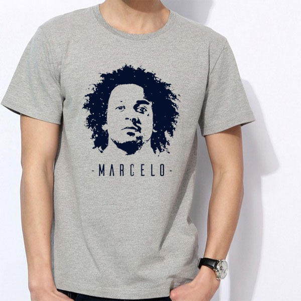 corta de Madrid manga Ronaldo Junior Marcelo Liga Brasil da Silva Camiseta La Hombres BBC Vieira EwdPUE