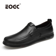 Breathable Genuine Leather Casual Shoes Men Design Slip On Outdoor Flats Handmade