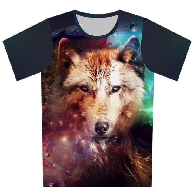 Nuevo estilo 3d de la camiseta del cerdo elefante lobo terrorista T Shirt caballero de 2016 Summer marca diseño de cuello redondo remata ropa T-Shirt