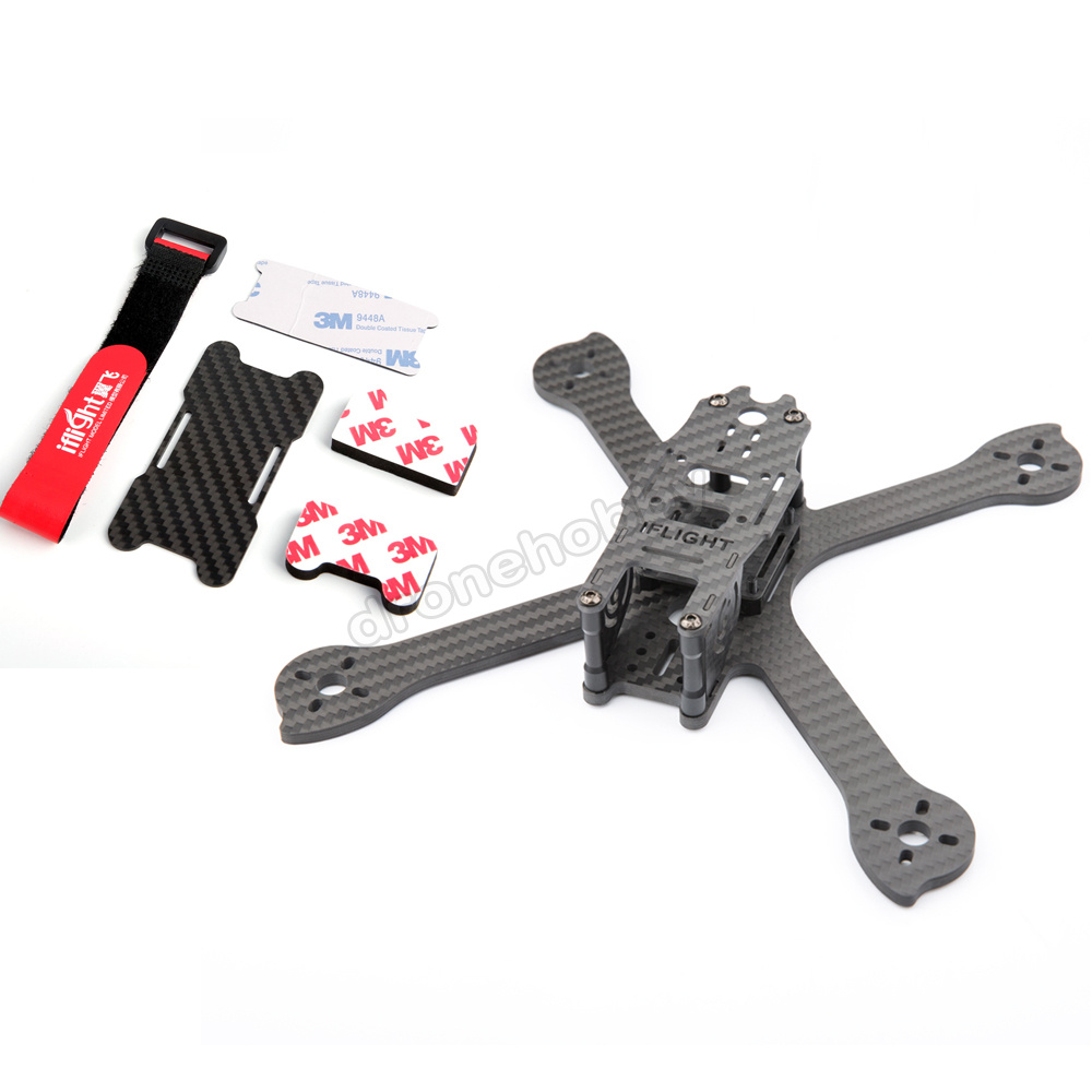 iFlight iX5 V2 200mm Low Ride Carbon fiber Lightweight Frame Kit with Battery protector plate FPV Mini drone Racing Quadcopter 1sheet matte surface 3k 100% carbon fiber plate sheet 2mm thickness