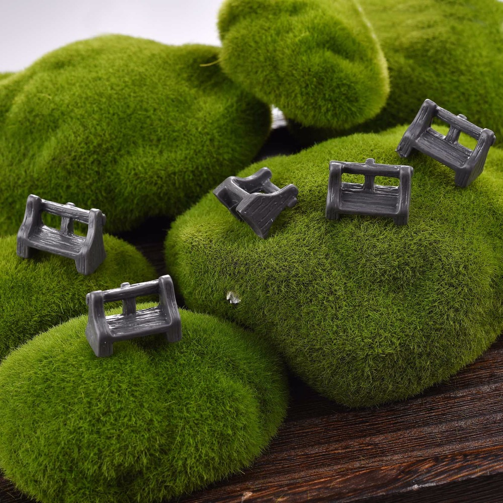 5 pcs lot micro landscape park seat garden decoration for Deco jardin miniature