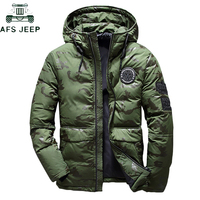 Brand Winter Men Hooded ultraLight White Duck Down Jacket Men 2019 Military Camouflage parka jackets Thick Warm Feather Jacket