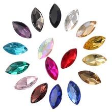 цена на 50pcs/lot Top Grade Shiny Horse eye Sew On Rhinestone Sewing Crystal Stone Women DIY Jewelry For Wedding Dress Clothes