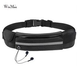 Nueva bolsa de cintura para correr al aire libre impermeable soporte para teléfono móvil cinturón para correr bolsa de vientre para mujer gimnasio Fitness bolsa para mujer accesorios deportivos