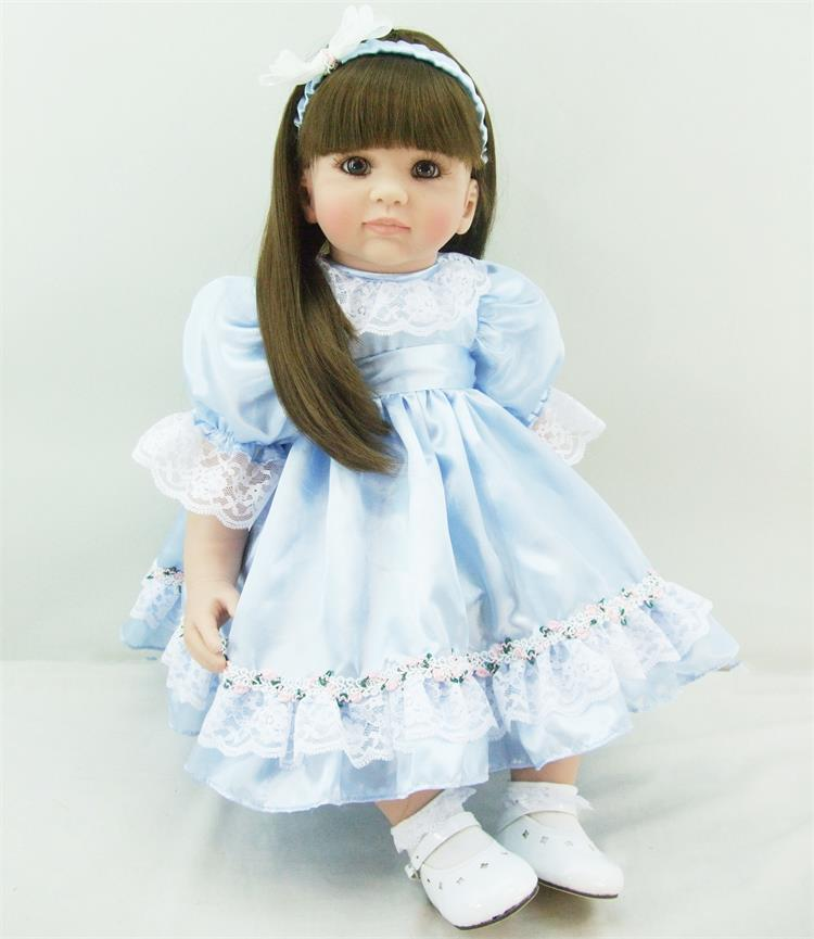 The cute reborn vinyl silicone baby dolls accompany sleeping lifelike princess toddler doll kid christmas new year gifts
