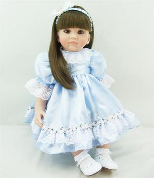 The cute reborn vinyl silicone baby dolls accompany sleeping lifelike princess toddler doll kid christmas new year gifts