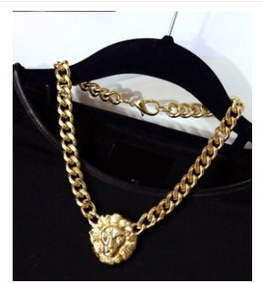 Fashion   Head Coarse Necklaces Vintage Collarbone Chain Women Jewelry  N101 B6