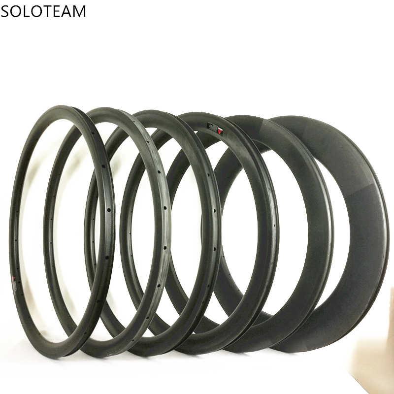 Livraison gratuite 700C carbone jantes 20mm 30mm 35mm 38mm 45mm 50mm 55mm 60mm 88mm pneu carbone jante 700C jantes de vélo