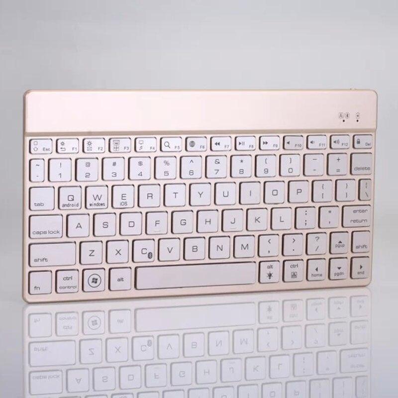 2016 Новинка роскошный алюминиевый Беспроводной Bluetooth клавиатура с/без 7 цветов Подсветка Teclast g17s g17h 7 P80 P89 X80H p85mini