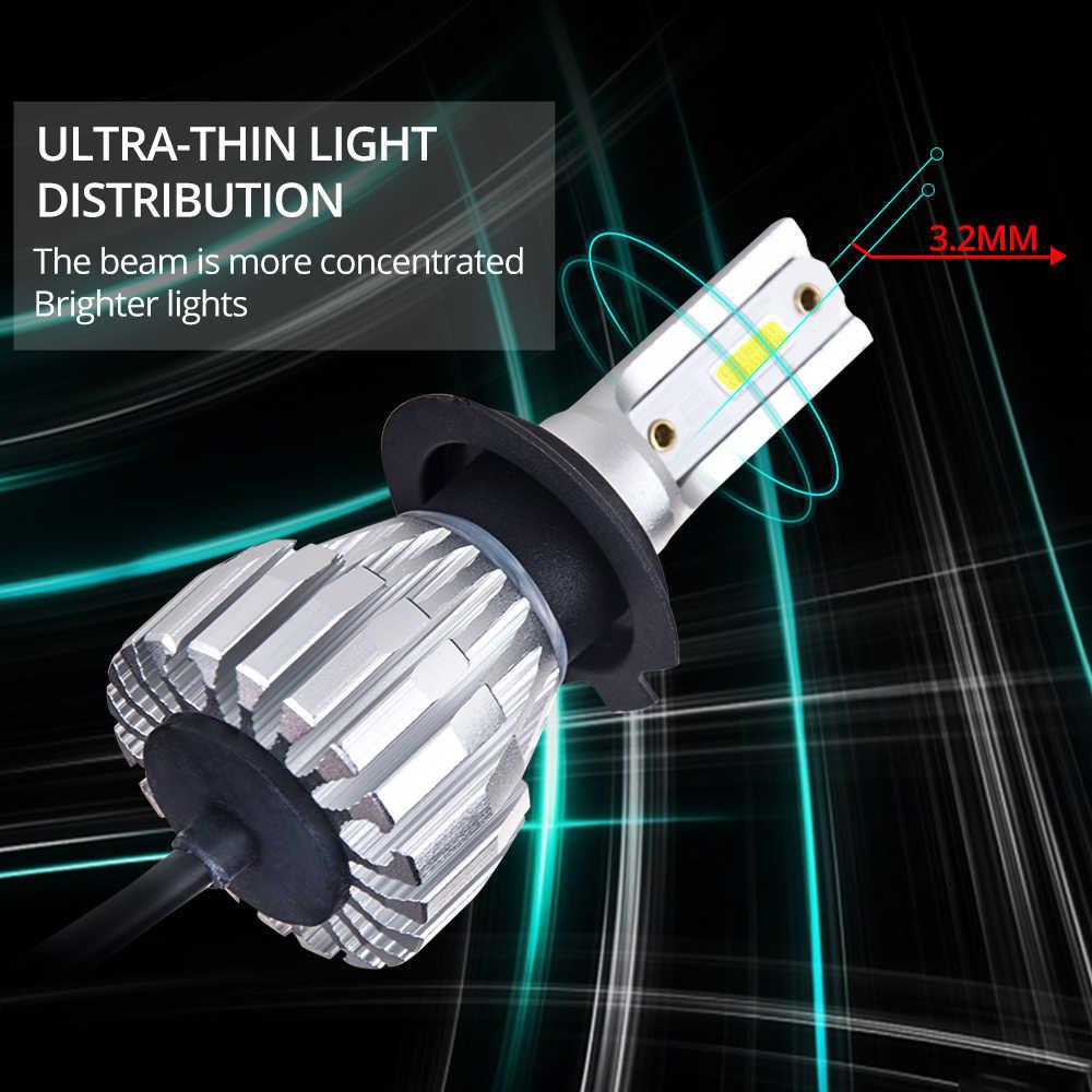 Avacom 2Pcs LED H4 H3 Mini Car Headlamp 9005/HB3 9006/HB4 Hir2 DOB Chip 50W 8000Lm 6500K 12V 24V LED H1 H7 H11 Ampoule Voiture