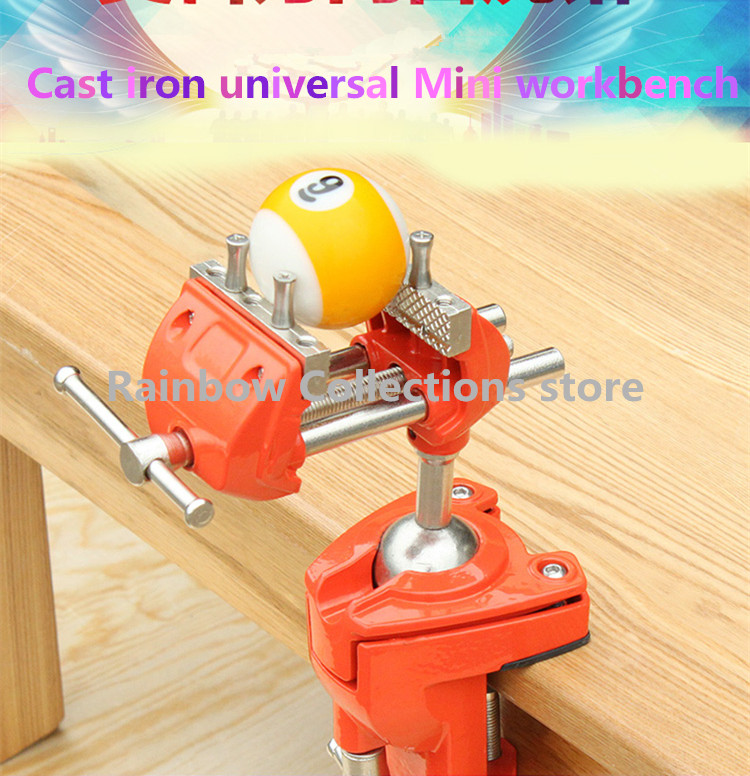 Astonishing Us 107 95 10 Off Vise Mini Workbench Home Multi Function Cast Iron Universal Small Table Vise Vise Heavy Duty Fixture Welding In Clamps From Home Andrewgaddart Wooden Chair Designs For Living Room Andrewgaddartcom