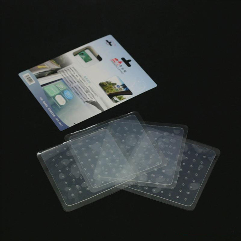 Trend Mark Reusable Silicone Car Tax Discs Holder Car Inspection Labels Static Front Windshield Stickers 4pcs/lot Exterior Accessories