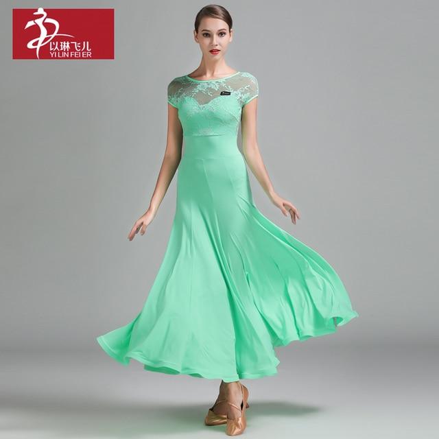 Robes Robes Robes Valse Salle Vert Femme Dentelle De Robe Bal xPvawAO0q