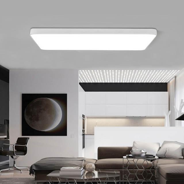 Ultra-dünne quadratische LED deckenbeleuchtung lampen für die wohnzimmer  kronleuchter Decke für die halle modernen decke lampe