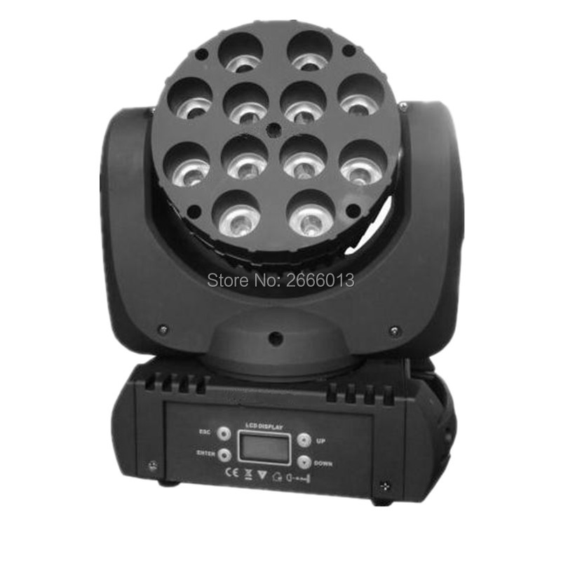 High quality RGBW 4in1 color 12x12W LED beam moving head light with advanced 11/15 channel DMX Linear beam wash effect  lights