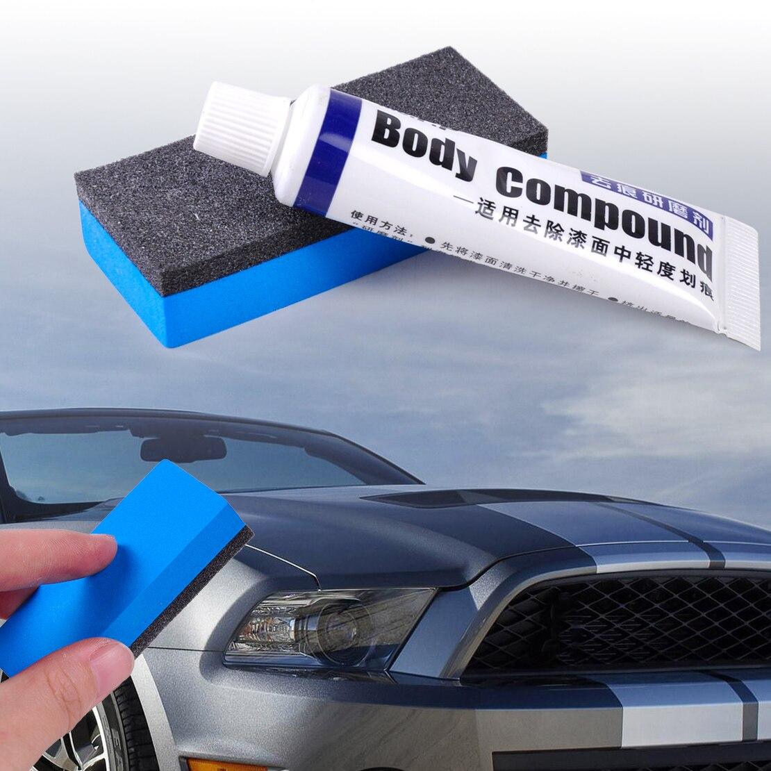 Car Wash & Maintenance Dwcx Car Scratch Assistance Remover Useful Vehicle Body Paint Care Body Polishing Gringding Compound Paste With Sponge