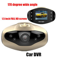 Free shipping new Car Camera 1.5 inch 170 degree wide angle Night Vision car DVR video recorder camcorder