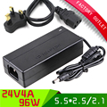 1set Universal ac 100-250V dc 24V 4A 96W power supply UK PLUG power adapter with 5.5*2.5/2.1 jack