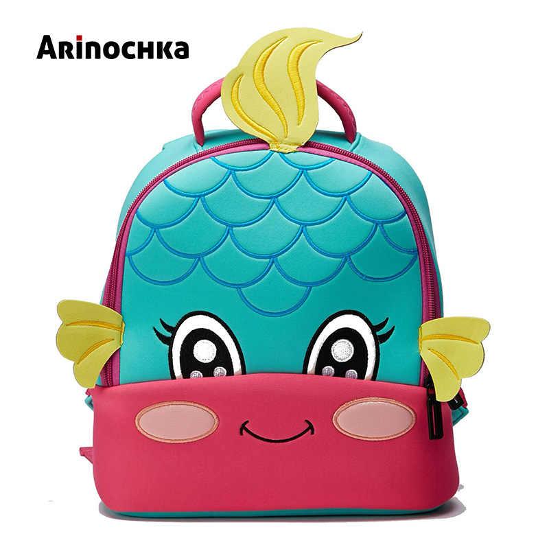 1da7f34d221e Lovely Little Kids Mermaid School Bag Zoo Animal Backpack Cartoon Unicorn  Toddler Small Baby Bag Beautiful Butterfly for Girls