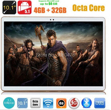 10 pulgadas 4G LTE tablet pc Octa Core 4 GB RAM 32 GB ROM Android 5.1 Phablet IPS GPS wifi 5.0MP 10.1 MID DHL envío
