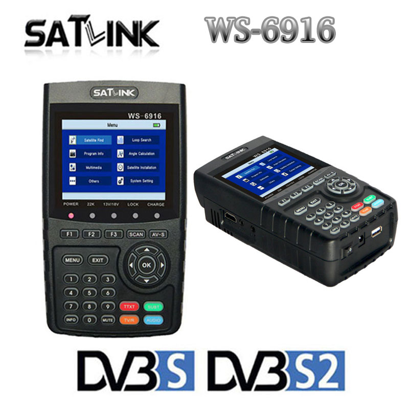 Satlink WS-6916 HD DVB-S2 High Definition Satellite Finder meter MPEG-2/MPEG-4 WS6916 3.5 inch TFT LCD Screen Digital TV Finder satlink ws 6916 satellite finder dvb s2 mpeg 2 mpeg 4 3 5 inch high definition satellite meter tft lcd screen pk v8 finder