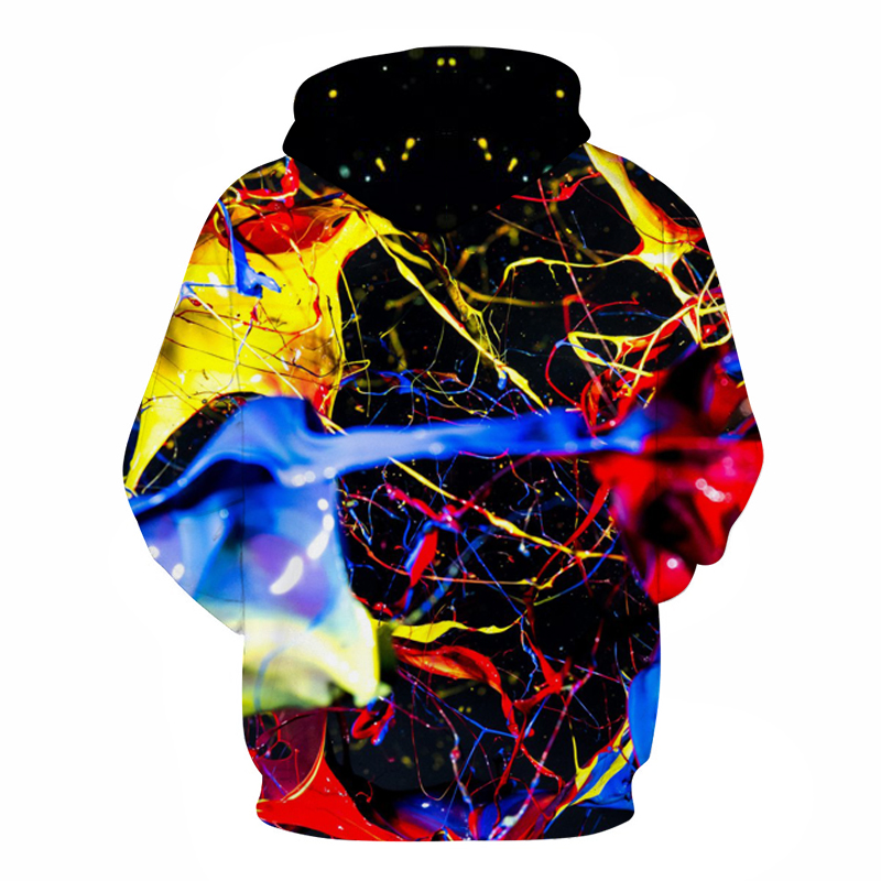 Splashed paint 3D Colorful Printed Hoodies Men Sweatshirt unisex Tracksuit Fashion Hooded Pullover Hot Sale Brand Boy Male Coats