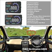 цена на Car HUD Head Up Display For Renault Duster - Saft Driving Screen Projector Refkecting Windshield