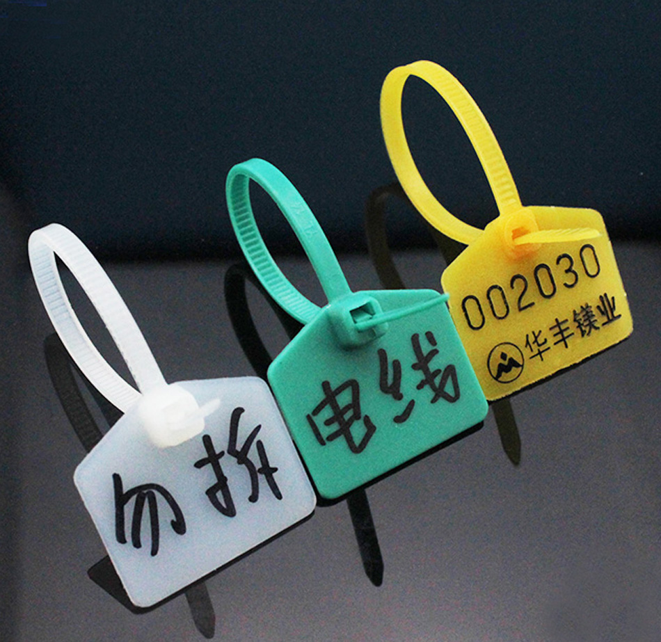 Plastic Tags, Double locked Nylon Labeling Tags Luggage Tags ...