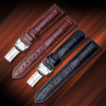 OTMENG High Quality Genuine Leather Watch Strap Black Brown 18mm-22mm W