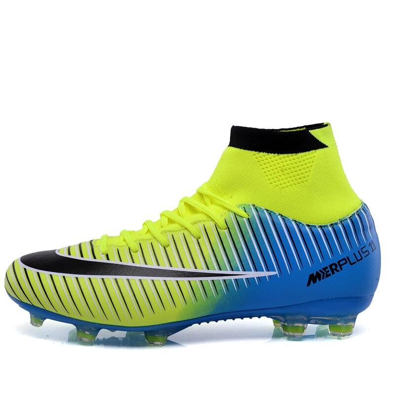 Chuteira Futsal Chuteiras de Futebol Chuteiras de Futebol Sapatos Para Homens  Alta Original Com Profissional Meias Boot Com Botas de Tornozelo em Sapatos  de ... 7e0f8a2cf0df5