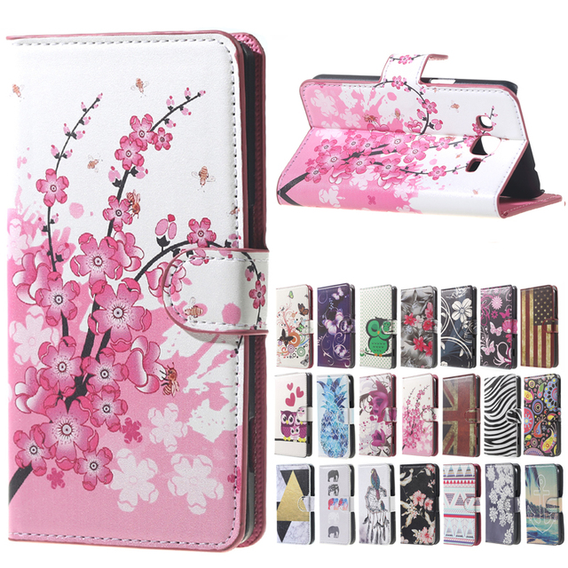3851a38bb11 Pink Plum Flip pu Leather Wallet Cover Case For Samsung Galaxy J3 2016 SM  J320 J320F J320FN SM-J320F SM-J320FN Phone Cases coque